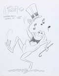 Animation Art:Production Drawing, Willie Ito - Michigan J. Frog Illustration Original Art (undated)....