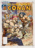 Original Comic Art:Miscellaneous, Earl Norem The Savage Sword of Conan #153 Preliminary Cover Original Artwork (Marvel Comics, 1988)....