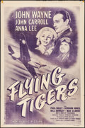 "Movie Posters:War, Flying Tigers (Republic, R-1954). One Sheet (27"" X 41""). War.. ..."