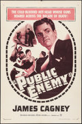 "Movie Posters:Crime, The Public Enemy (Warner Brothers, R-1954). One Sheet (27"" X 41"").Crime.. ..."