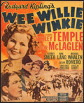 "Movie Posters:Adventure, Wee Willie Winkie (20th Century Fox, 1937). Trimmed Window Card(13"" X 16""). Adventure.. ..."