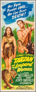 "Movie Posters:Adventure, Tarzan and the Leopard Woman (RKO, 1946). Insert (14"" X 36"").Adventure.. ..."