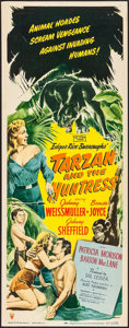 "Movie Posters:Adventure, Tarzan and the Huntress (RKO, 1947). Insert (14"" X 36"").Adventure.. ..."