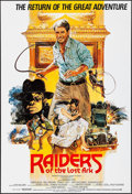 """Movie Posters:Adventure, Raiders of the Lost Ark (Paramount, R-1982). British One Sheet (27""""X 40""""). Adventure.. ..."""