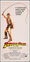 "Movie Posters:Adventure, Indiana Jones and the Temple of Doom (Paramount, 1984). AustralianDaybill (13"" X 27""). Adventure.. ..."
