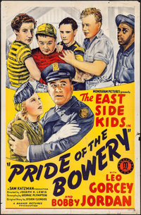 """Pride of the Bowery (Monogram, 1940). One Sheet (27"""" X 41""""). Comedy"""