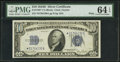 Small Size:Silver Certificates, Fr. 1705* $10 1934D Wide Silver Certificate. PMG Choice Uncirculated 64 EPQ.. ...
