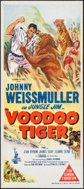 "Movie Posters:Adventure, Voodoo Tiger (Columbia, 1953). Australian Daybill (13.25"" X 30"").Adventure.. ..."