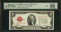 Small Size:Legal Tender Notes, Fr. 1505 $2 1928D Mule Legal Tender Note. B-A Block. PMG Gem Uncirculated 66 EPQ.. ...
