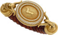 Estate Jewelry:Bracelets, Diamond, Gold, Leather Bracelet. ...