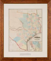J. Eppinger & F.C. Baker. Map of Texas Compiled from Surveys Recorded in the General Land Office. 1851