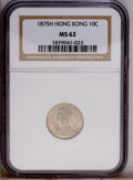 Hong Kong: , Hong Kong: Victoria 10 Cents 1875H, KM6.3, MS62 NGC. LIghtly toned with a few minor abrasions....