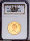 Hong Kong: , Hong Kong: Elizabeth II gold $1000 1982, KM50, Year of the Dog, Proof 68 Ultra Cameo NGC. Another piece with spectacular cameo appearan...