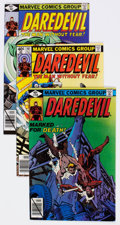 Modern Age (1980-Present):Superhero, Daredevil Group of 54 (Marvel, 1979-84) Condition: Average VF....(Total: 53 Comic Books)