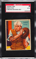 Autographs:Sports Cards, Signed 1934-36 R327 Diamond Stars Jimmie Foxx SGC Authentic. ...