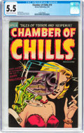 Golden Age (1938-1955):Horror, Chamber of Chills #19 (Harvey, 1953) CGC FN- 5.5 Cream to off-whitepages....