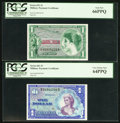 Military Payment Certificates:Series 651, Series 651 $1 PCGS Gem New 66PPQ;. Series 661 $1 PCGS Very ChoiceNew 64PPQ.. ... (Total: 2 notes)