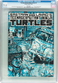 Modern Age (1980-Present):Alternative/Underground, Teenage Mutant Ninja Turtles #3 (Mirage Studios, 1985) CGC NM+ 9.6White pages....