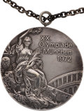 Miscellaneous Collectibles:General, 1972 Munich Olympics Individual Uneven Bars Silver Medal from The Olga Korbut Collection....