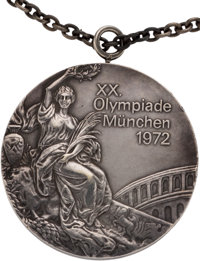 1972 Munich Olympics Individual Uneven Bars Silver Medal from The Olga Korbut Collection