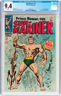Silver Age (1956-1969):Superhero, The Sub-Mariner #1 (Marvel, 1968) CGC NM 9.4 White pages....