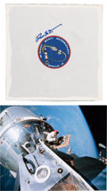 Explorers:Space Exploration, Dave Scott Signed Apollo 9 Beta Mission Insignia with Mission ColorPhoto. ...