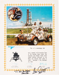 Explorers:Space Exploration, Gene Cernan Signed Large Apollo 17 / Grumman Team AcknowledgementCertificate, with Novaspace COA. ...