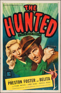 """The Hunted (Allied Artists, 1948). One Sheet (27"""" X 41""""). Film Noir"""