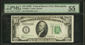 Small Size:Federal Reserve Notes, Fr. 2008-I* $10 1934C Federal Reserve Note. PMG About Uncirculated 55.. ...