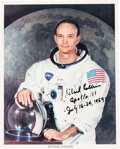 Autographs:Celebrities, Michael Collins Signed White Spacesuit Color Photo, with NovaspaceCOA. ...
