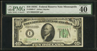Fr. 2008-I* $10 1934C Wide Federal Reserve Note. PMG Extremely Fine 40