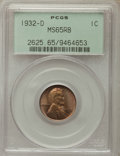 Lincoln Cents, 1932-D 1C MS65 Red and Brown PCGS. PCGS Population: (44/2). NGC Census: (42/9). Mintage 10,500,000. . From the Ex: Marti...