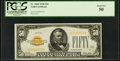 Small Size:Gold Certificates, Fr. 2404 $50 1928 Gold Certificate. PCGS About New 50.. ...