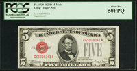 Fr. 1529 $5 1928D Mule Legal Tender Note. PCGS About New 50PPQ