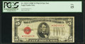 Small Size:Legal Tender Notes, Fr. 1531* $5 1928F Wide II Legal Tender Note. PCGS Fine 15.. ...