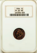 Proof Indian Cents: , 1904 1C PR64 Red and Brown NGC. NGC Census: (56/57). PCGS Population: (107/63). CDN: $325 Whsle. Bid for problem-free NGC/P...