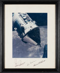 Explorers:Space Exploration, Apollo 17 Crew-Signed Large Command Module Color Photo Originallyfrom the Personal Collection of Mission Command Module Pilot...
