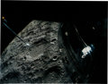 Autographs:Celebrities, Fred Haise and James Lovell Signed Large Apollo 13 Moon ColorPhoto. ...