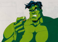 Animation Art:Production Cel, The Fantastic Four The Hulk Production Cel (Marvel Films,1995).. ...