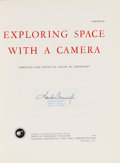 Autographs:Celebrities, Charles Conrad Signed Book: NASA's Exploring Space With ACamera. ...