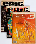 Magazines:Science-Fiction, Epic Illustrated Group of 32 (Marvel, 1980-86) Condition: AverageFN/VF.... (Total: 32 Comic Books)