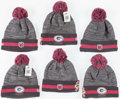 Football Collectibles:Others, Green Bay Packers Breast Cancer Awareness Beanies (6). ...