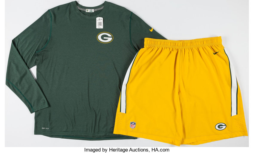 the latest a7b7a 22a07 Davante Adams Practice Worn Green Bay Packers Shirt and ...
