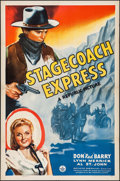 "Movie Posters:Western, Stagecoach Express (Republic, 1942). One Sheet (27"" X 41""). Western.. ..."