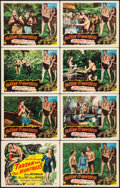 "Movie Posters:Adventure, Tarzan and the Huntress (RKO, 1947). Lobby Card Set of 8 (11"" X14""). Adventure.. ... (Total: 8 Items)"