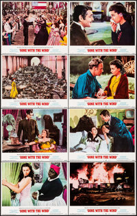 "Gone with the Wind (MGM, R-1974). Lobby Card Set of 8 (11"" X 14""). Academy Award Winners. ... (Total: 8 Items)"