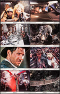 """Movie Posters:Adventure, Indiana Jones and the Temple of Doom (Paramount, 1984). Lobby CardSet of 8 (11"""" X 14""""). Adventure.. ... (Total: 8 Items)"""
