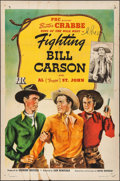 "Movie Posters:Western, Fighting Bill Carson & Other Lot (PRC, 1945). Folded, Overall: Fine. One Sheet (27"" X 41"") & Window Cards (2) (14"" X 22""). W... (Total: 3 Items)"