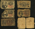 Colonial Notes:New York, New York August 13, 1776 $1/8 Very Good.. ... (Total: 6 notes)