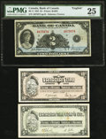 Canadian Currency: , BC-3 $2 1935.. ... (Total: 3 notes)